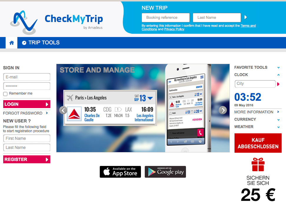 checkmytrip homepage