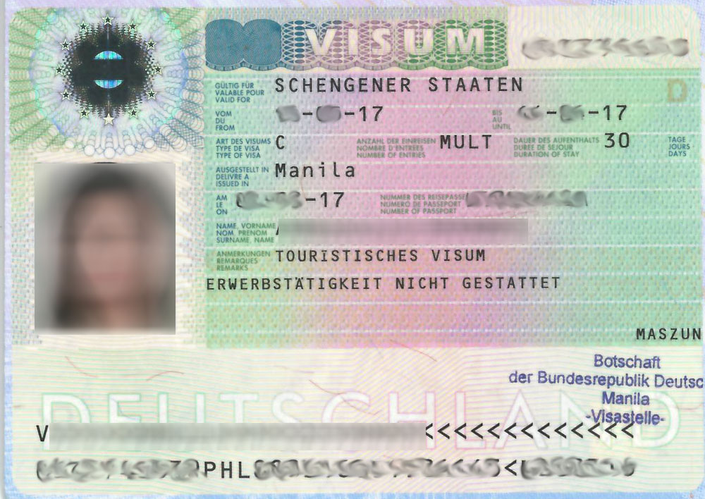 germany1 Online Application Form Schengen Visa on word world, requirements for,