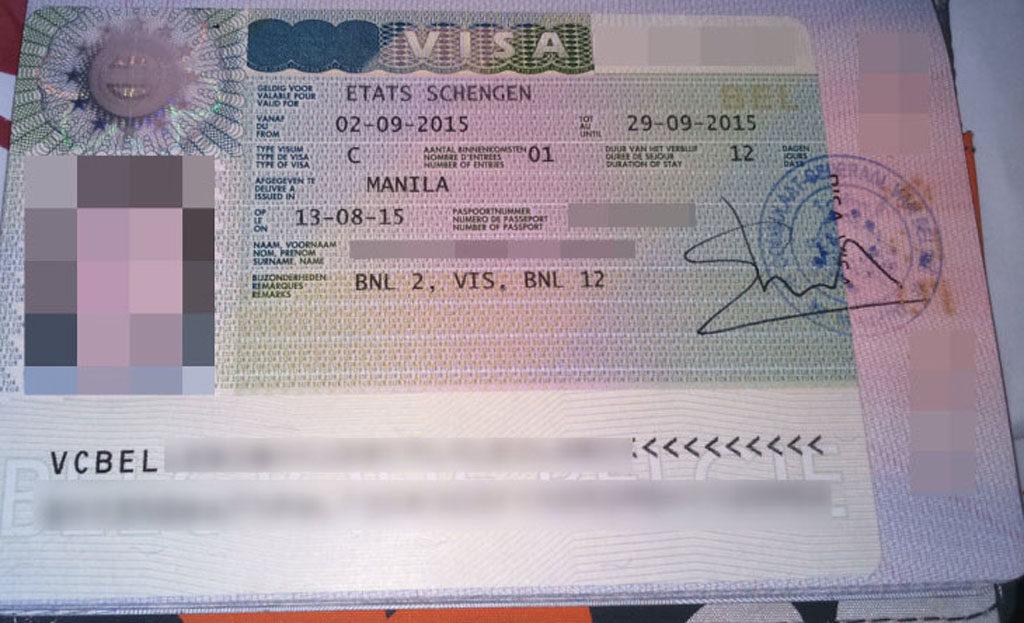 on visa application form belgium emby islamabad